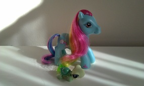 G3 Rainbow Dash with Tortoise LPS